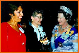 Special guests at the Vancouver 1992 Congress; Marie-Claire Annibal in conversation with the Queen!