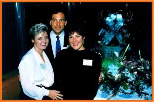 Bertine Hage, Louis Tremblay and Diane Dillon hosting the 3rd National Conference of Les Clefs d'Or Canada in Vancouver 1992.