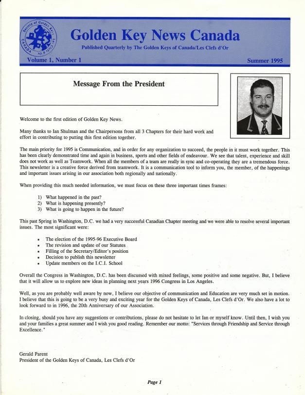 1995 1st Newsletter