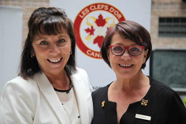 002 - Salon-Francine Asselin, Clefs d'Or Quebec Director & Louise Richard from Cegep Limoilou