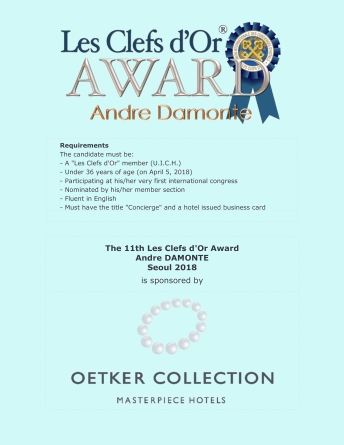 LCDAward 2018 - logo and Oetker blue